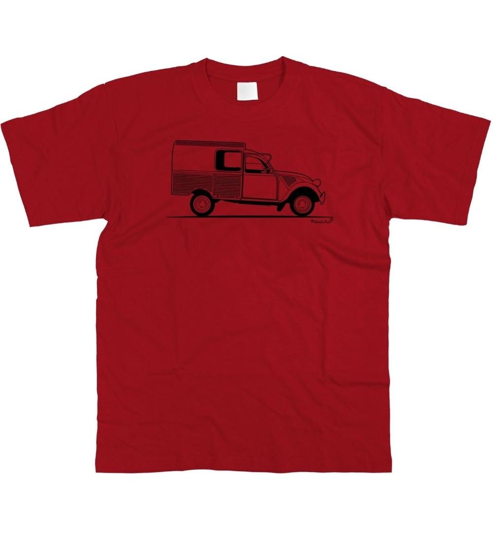 Camiseta para hombre Original Sketch Coche francés Fans 2Cv fourgonette Van S-5Xl 2019 nueva ropa para hombres camisetas de moda para hombres