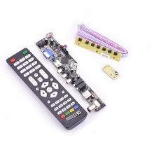 V53 carte de commande universelle lcd TV 10-42 pouces lvds carte pilote TV VGA AV HDMI USB DS.V53RL.BK