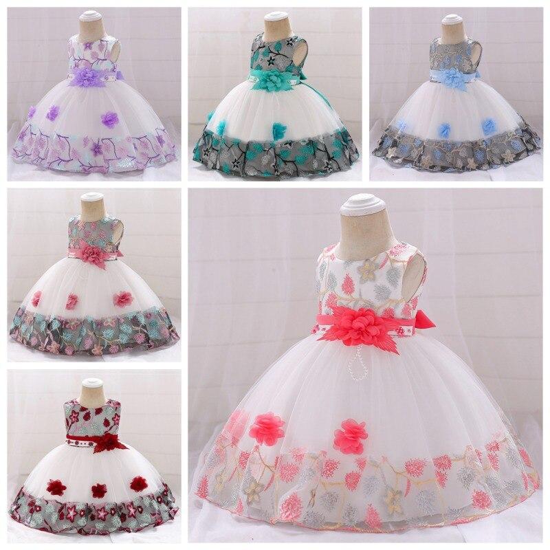 Платье с цветочным узором для девочек на свадьбу, вечернее детское платье принцессы, праздничное длинное платье, Детские платья для девочек...