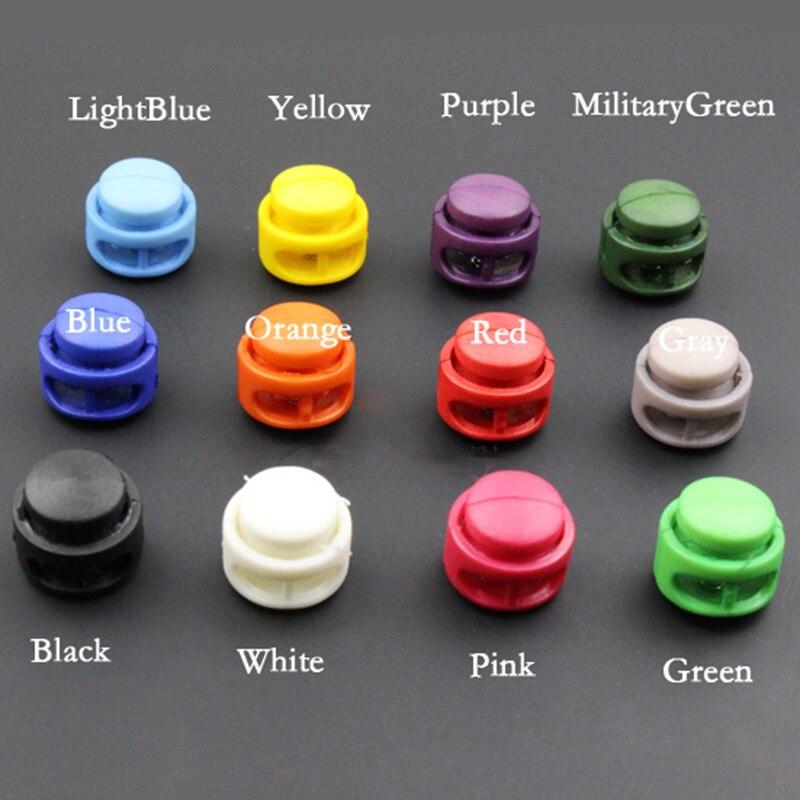 Многоцветные пластиковые зажимы для замка шнура, 10 шт., 16*17 мм, 2 отверстия, зажимные зажимы для фиксации шнура, пряжки для сумки, аксессуары