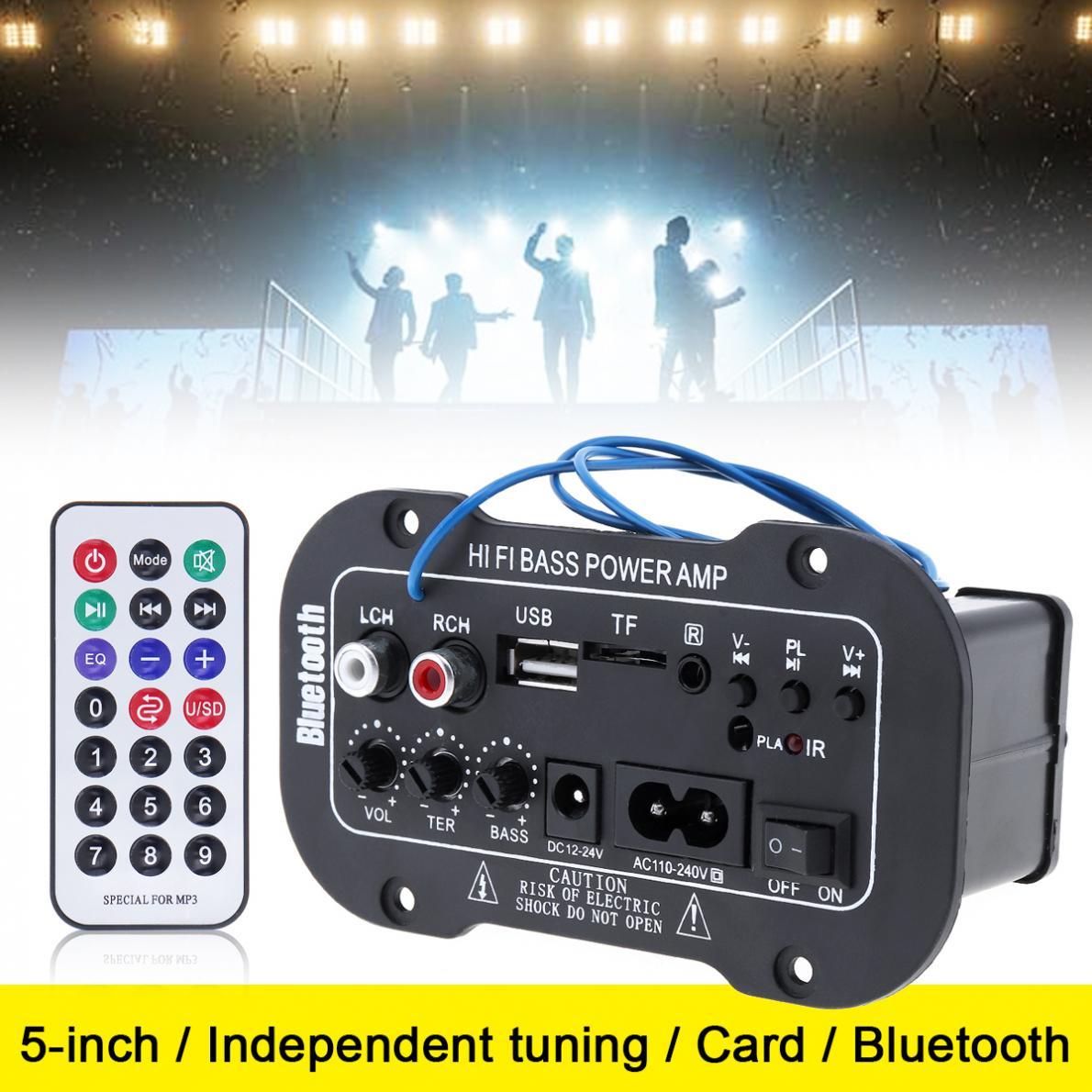 5 дюймов Hi-Fi Bluetooth домашний автомобильный аудио усилитель мощности авто FM радио плеер HiFi бас усилитель мощности поддержка SD USB DVD MP3 вход