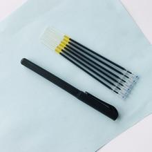 1 pack=1PC Gel Pen Shaft +6PC Refills Simple Gel Pen Business Signature Pen Stationery School Office Supply