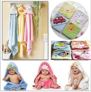 Toalla de baño con capucha para bebé carter animal Albornoz 100% de algodón 76x76cm bolsa de regalo de buena calidad