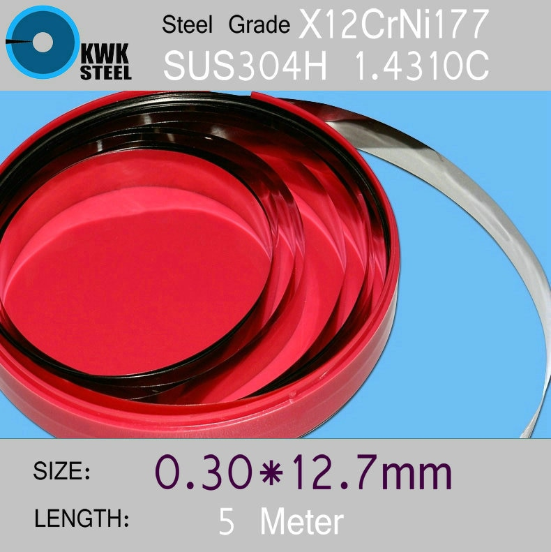 Tiras de acero inoxidable 0,30*12,7*5000mm en bobina para moldes arandela de distancia piezas de alta precisión en espiral hoja de acero de silicona