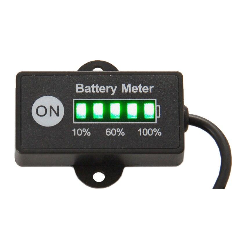 Medidor de batería del medidor de combustible de la batería 12 V 24 V probador de batería de plomo-ácido para el césped de la motocicleta del coche cortadora ATV UTV RL-BI005