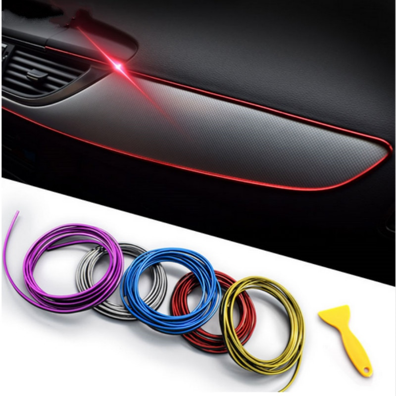 5M DIY Flexible decoración Interior forro tiras para Volvo Xc60 S60 s40 S80 V40 V60 v70 v50 850 c30 XC90 s90 v90 xc70
