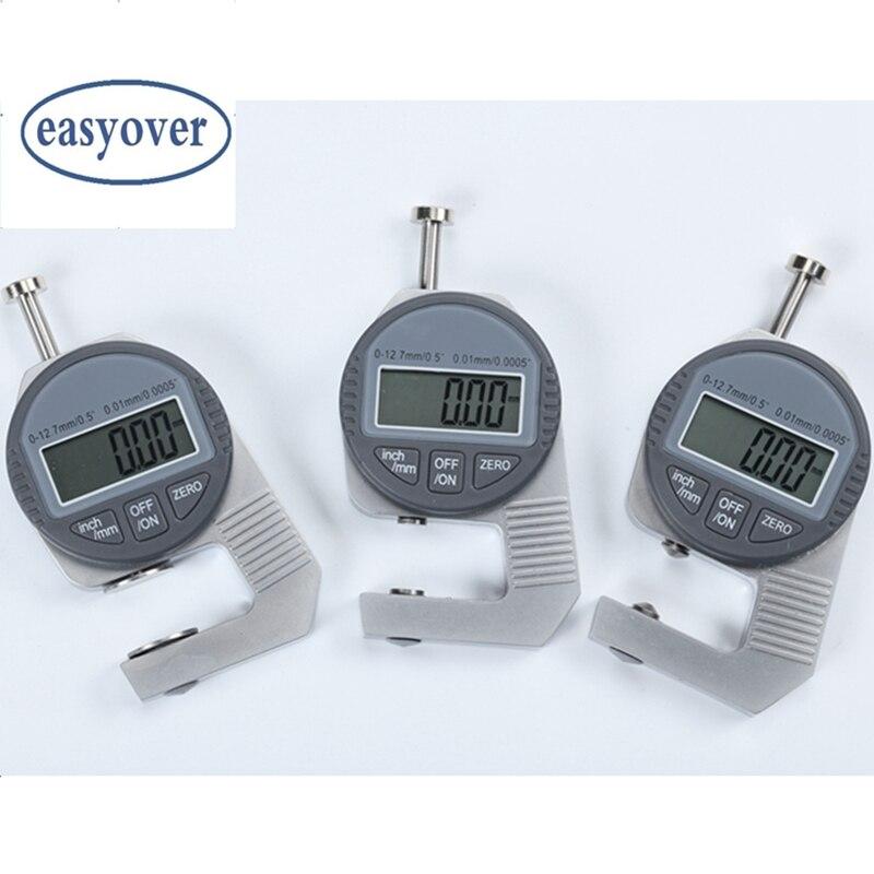 "0.01mm Digital Thickness Meter 0.0005"" 10mm LCD Pocket Digital Dial Indicator Sponge Steel Sheet Leather Thickness Gauge Tools"