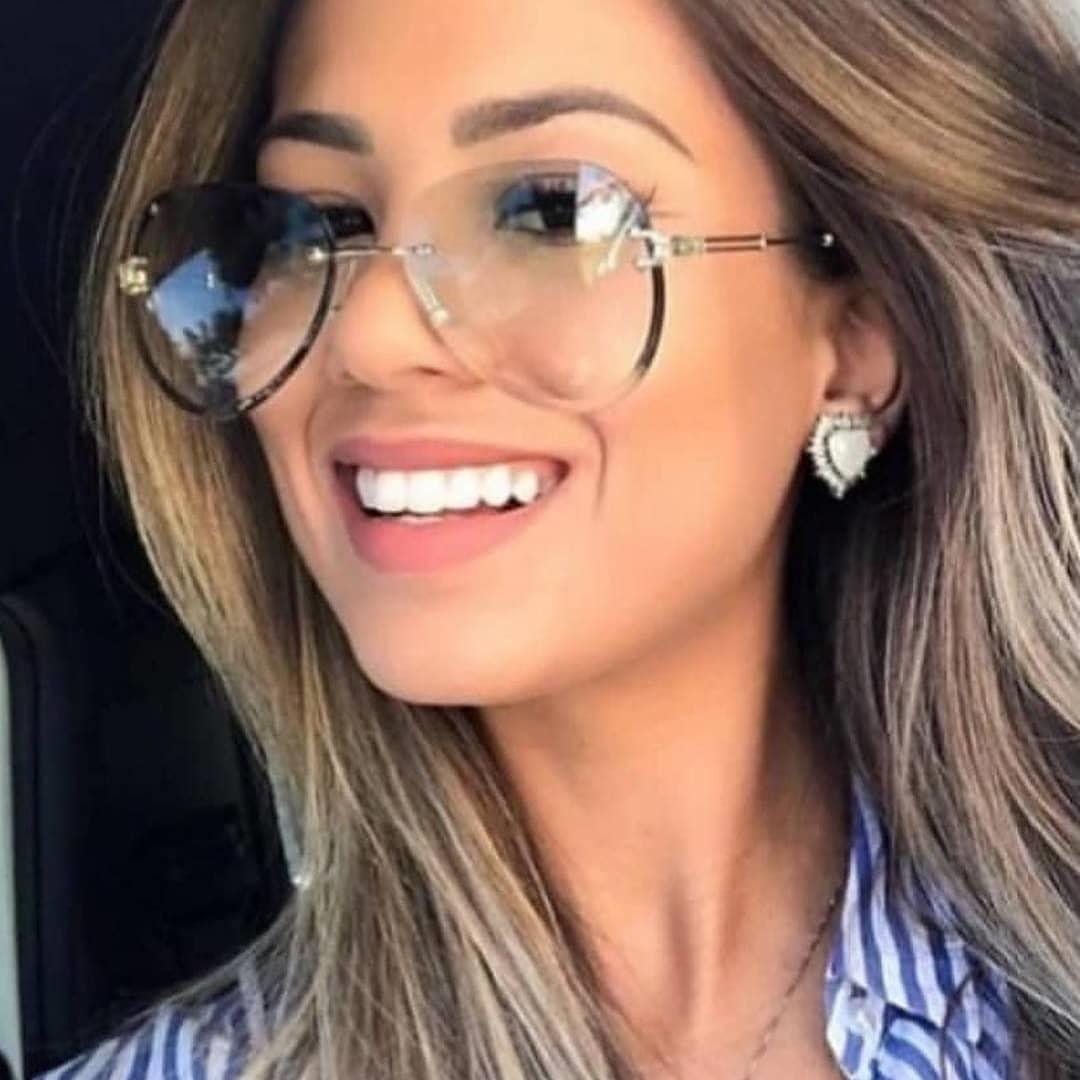 Pilot sunglasses women tint aviation ladies sun glasses classic vintage sunglasses rimless exquisite