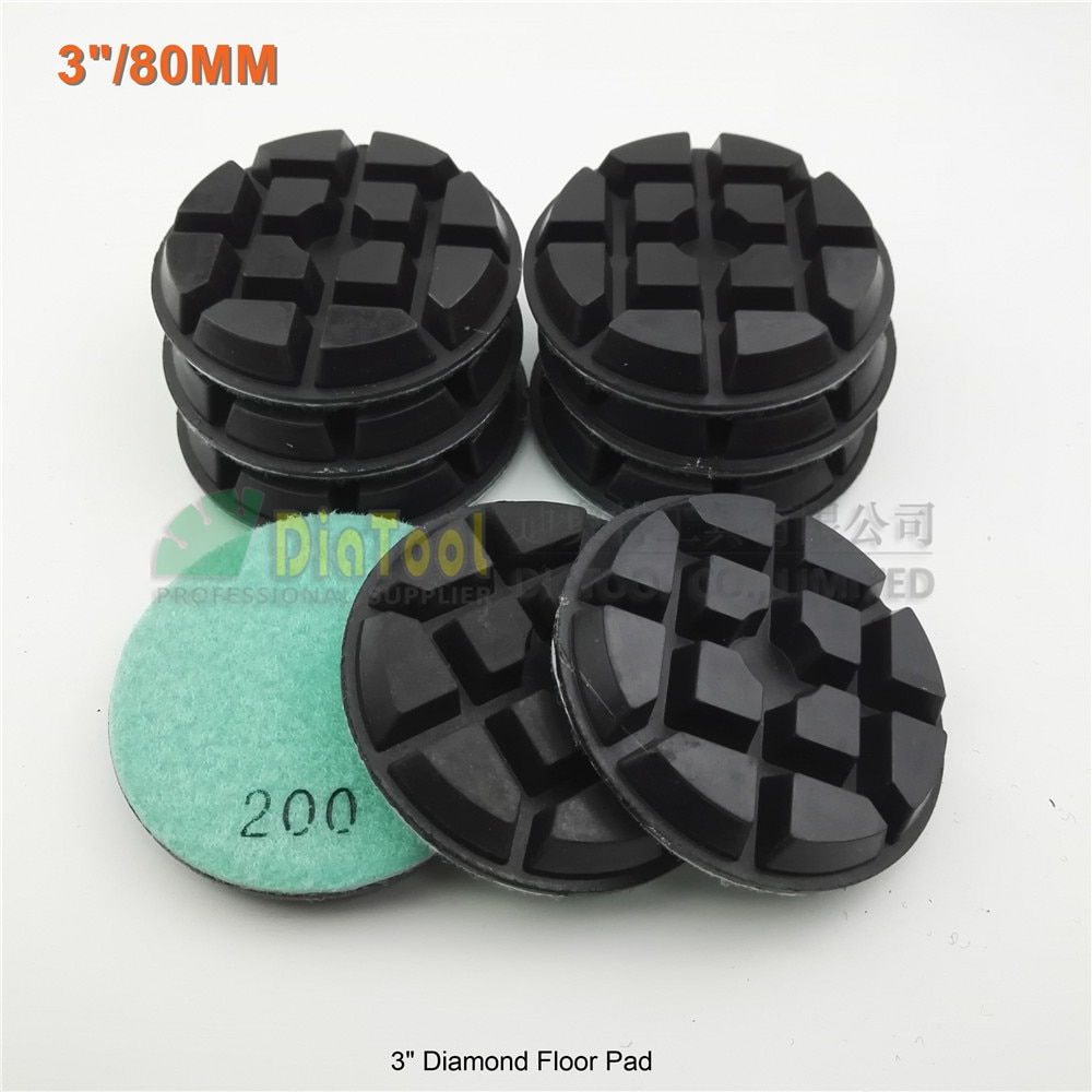 DIATOOL 9pcs 80mm diamond floor sanding disc #200 SA622 3