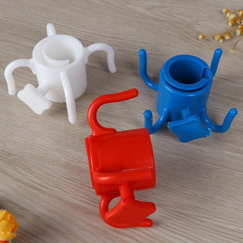 De plástico de 4-puntas playa paraguas gancho colgante para la toalla Cámara gafas de sol bolsas accesorios de piscina al aire libre/Blanco/azul/rojo