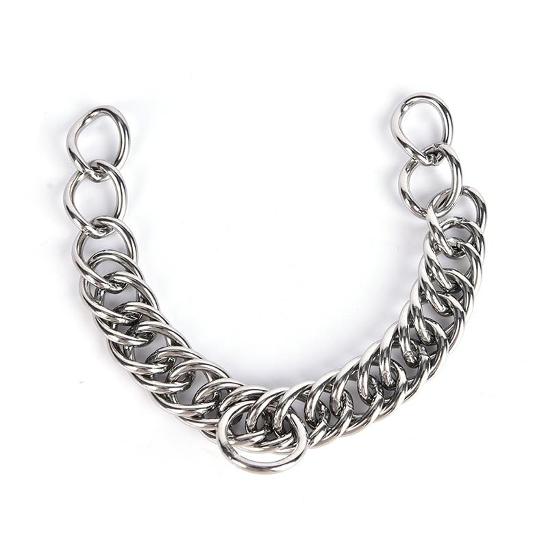 1 шт. Нержавеющая сталь двойной link цепочка для домашних животных Лошадь биты