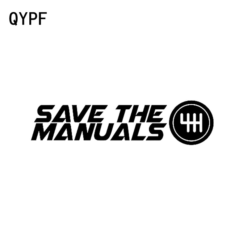 QYPF 17,2 cm * 4,2 cm moda guardar los manuales vinilo coche ventana pegatina negro plata accesorios C15-1455
