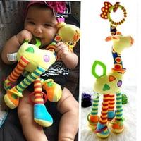 Плюшевые игрушки для младенцев, развитие ребенка, колокольчики с жирафами, погремушки, игрушки с ручками, прогулочная коляска, подвесной пр...