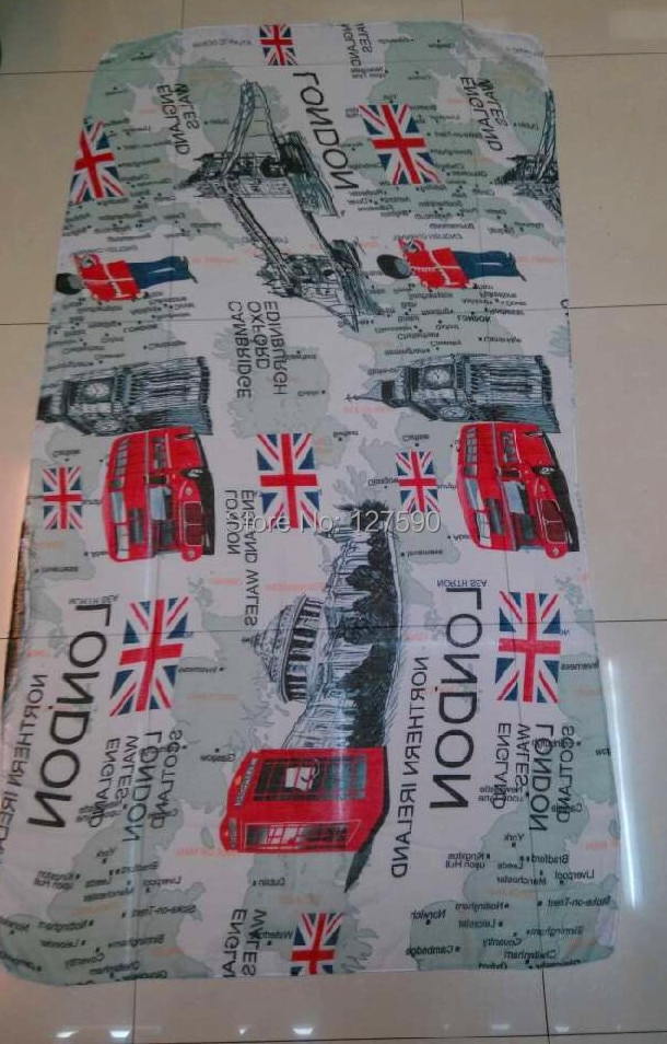¡Envío Gratis! Moda Reino Unido bandera impresión Londres mapa puente impresión bufanda mujeres accesorios chal tamaño 100X180 cm envolturas