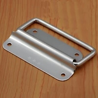 1pcs 304 stainless steel folding pull handle for cabine kitchen drawer door 5075100mm handle diameter 6mm