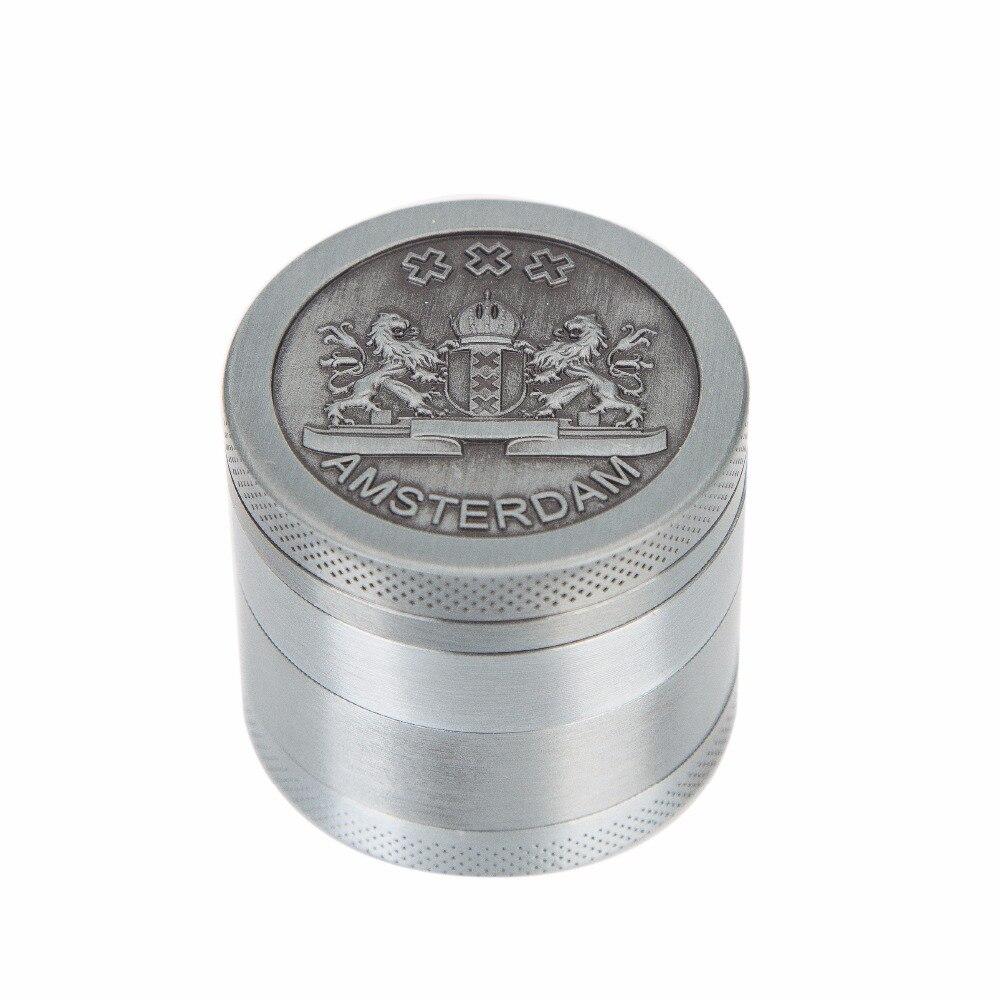 2020 Hot Selling Grinders Rasta Metal Mill Herb Spice Muller Grinder Smoking 4 Part 40mm Crusher grinder tobacco Maker wholesale