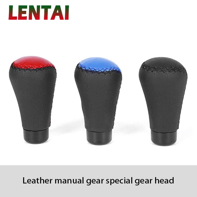 LENTAI 1Set Car Gear Shift Knob Shifter Knob Leather For Mercedes W205 W203 W211 Volvo XC90 S60 XC60 S80 V40 Alfa Romeo 159 156