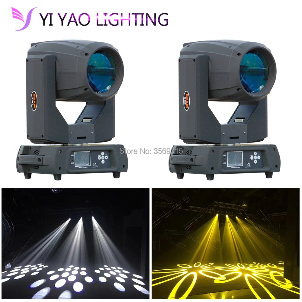 2 unids/lote Super 17r 350W haz de luz cabeza móvil dmx dj disco zoom