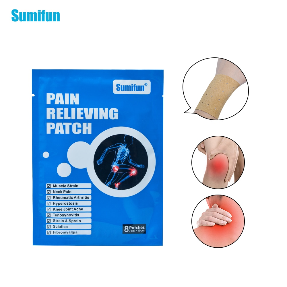 Sumifun 40Pcs/5Bags Pain Relieving Patch Muscle Strain Pain And Neck Pain Joint Plaster Body Massage