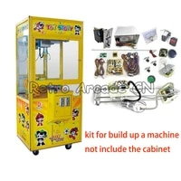 diy arcade cabinet toy crane machine kit with claw motor crane game pcb coin acceptor buttons harness joystick