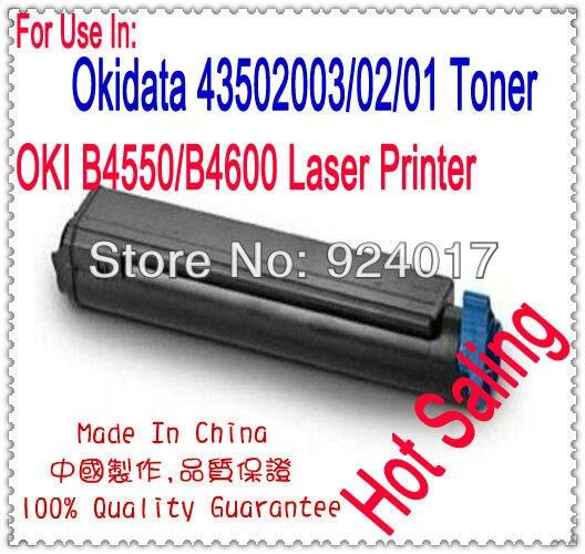 ل Okidata B4400 B4400n B4500 B4500n B4550 B4550n B4600 B4600n طابعة الحبر خرطوشة ، لأوكي 43502003 43502002 43502001 الحبر