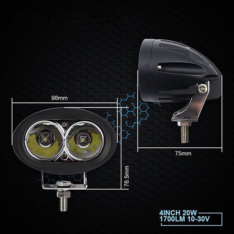 MAHAQI-barre lumineuse avec yeux dange   2 pièces 3 pouces 12V 24V 6500K 20W, étanche voiture hors route, phare de travail, offre spéciale