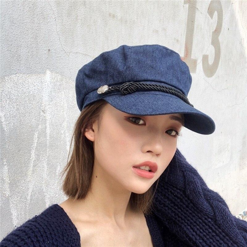 Gran oferta 2019, gorro militar negro Unisex, boinas a la moda para hombres y mujeres, gorro octogonal estilo urbano, sombreros de marca, Newsboy