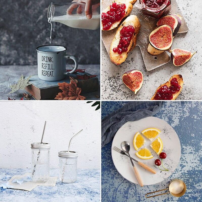 Fondo fotográfico de escritorio con textura de cemento de doble cara para fotos de estudio accesorios para alimentos y bebidas