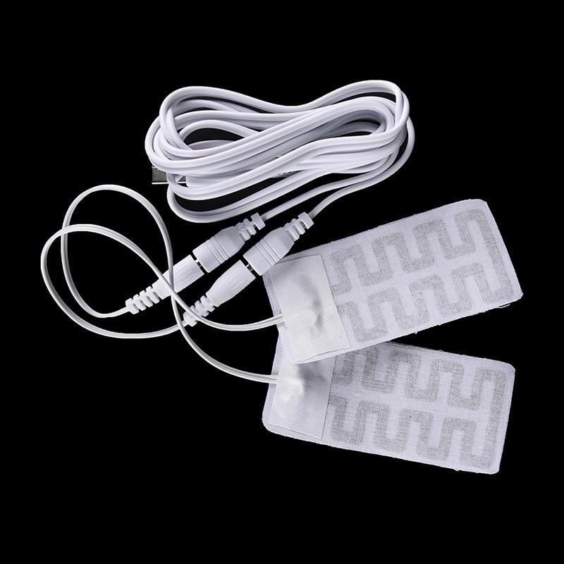 2 pçs/lote 5*9 cm 5 v usb aquecido meias de fibra carbono almofadas palmilhas aquecimento elétrico inverno braço quente mãos cintura luvas aquecidas nova venda