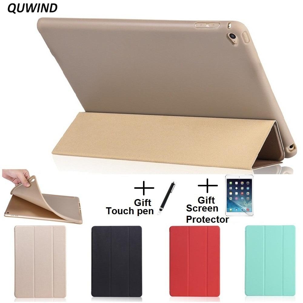 QUWIND opaco Material suave Sleep Wake Up titular funda protectora para iPad Air 1 2 nuevo iPad 2017 2018 9,7 pulgadas
