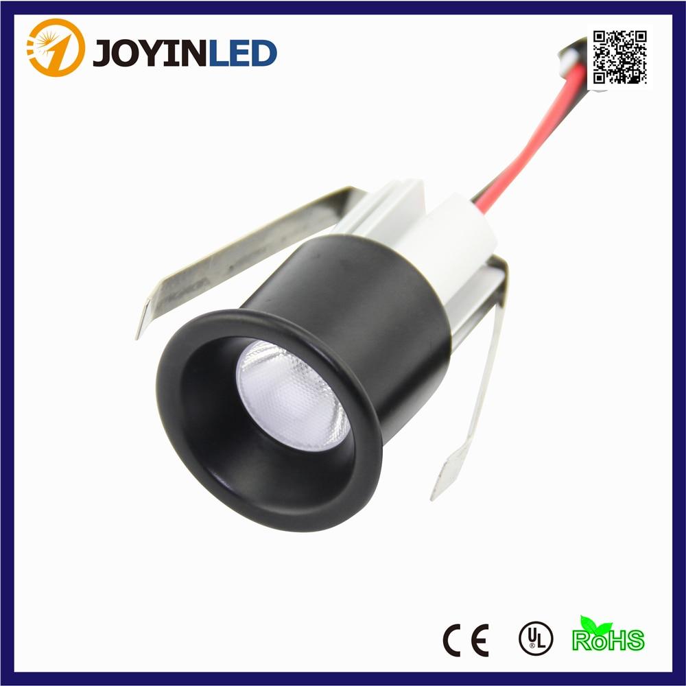 Mini Focos LED para dormitorio, 2 unidades/lote, antideslumbrante, 3W, Color negro
