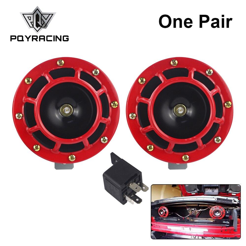 PQY - 2 uds 12v 115DB Super fuerte tono de explosión eléctrica Kit de bocina de aire para la PQY-LB31 del coche de la motocicleta