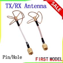 FPV 5.8G 5.8ghz Clover 3 Blade Transmitting w/ 4 Blade Receiving Aerial Antenna (TX w/ RX) Straight/Bore Connector for fatshark