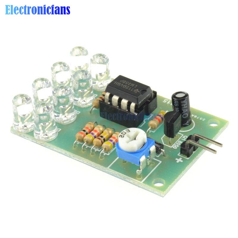 Lumière respiratoire LED 12V, pièces de lampe clignotante, Module de bricolage électronique LM358 puce 8 LED