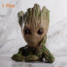 Groot maceta pour pot de jardinière figurines jouets bébé groot figure stylo pot de fleur