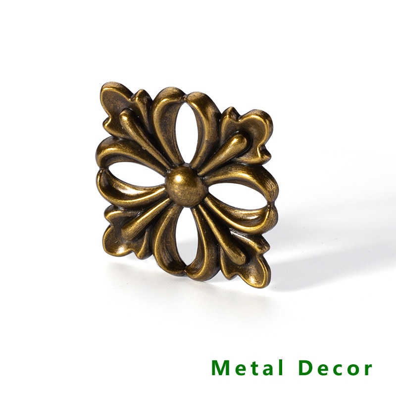 AliExpress - traditional country style metal Decor electronic plating zinc alloy antique brass color furniture frame leg head post decoration