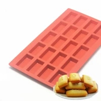 1pc baking tool 20 cavity financiers mould silicone mold 11 36 60 5 inch red french cake mold dessert tool