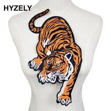 Parches de ropa con bordado de tigre grande para ropa con parche de bicicleta tela de algodón NL275