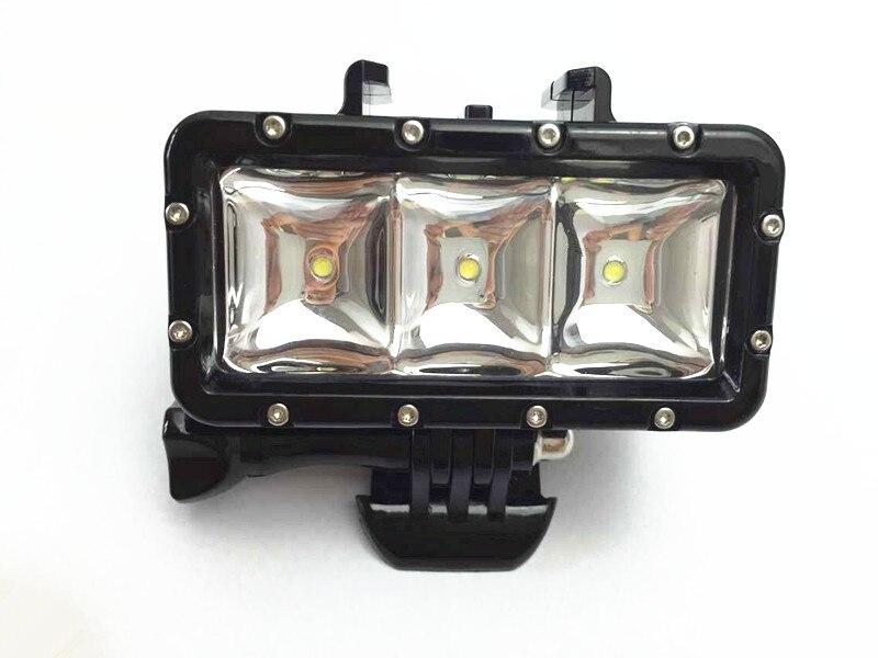 Suptig ل gopro اكسسوارات إضاءة مقاومة للماء الفيديو الضوئي الغوص الإضاءة ل GoPro بطل 4/3 +/3 SJ4000 SJCAM ، 30 m