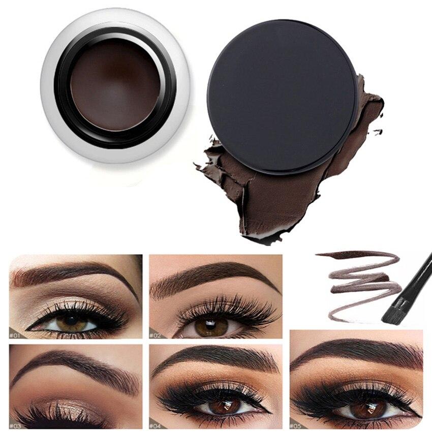 Nueva marca CHOCOLATE 5 colores cejas tinte maquillaje impermeable gel de pomada Natural de larga duración marrón crema potenciador de cejas