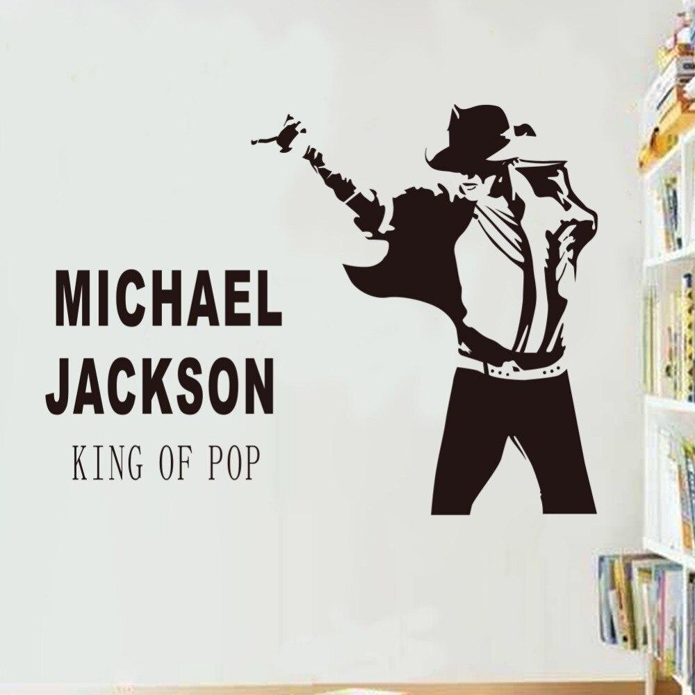 Tanzen Michael Jackson Wandaufkleber Entfernbare wandtattoos Kunst Poster DIY Wohnkultur T023