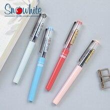 12 pièces Snowhite 0.38 stylo à bille liquide Direct pour étudiants stylo Gel stylo de signature stylo spécial dexamen