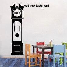 Horloge murale personnalisée pour grand père   Autocollant Silhouette, autocollant mural de fond, décoration de maison, salon, autocollants dart pour salon