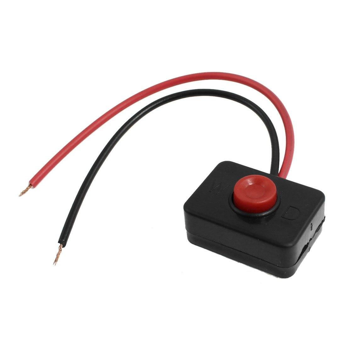 AUTO DC 12V 2A Base adhesiva botón pulsador acción interruptor alámbrico para coche
