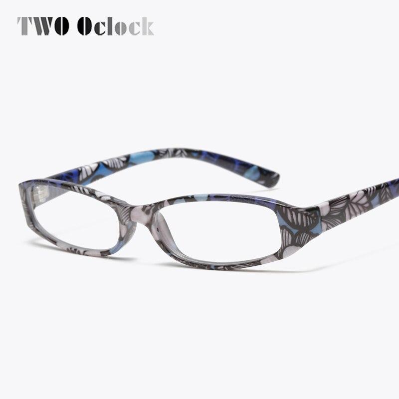 Dos en punto gafas de lectura de la impresión de la flor de las mujeres la presbicia gafas de vista óptica gafas con bolsa + 1,0/1,5/2,0/2,5/3,0/3,5/4,0