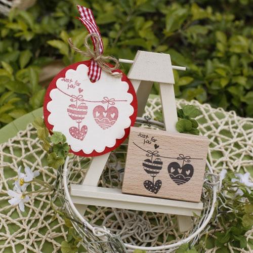 Diseño de alta calidad just for you love 5*6*2cm carimbo álbum de recortes de madera sellos de goma carimbos para tarjeta diy stempel