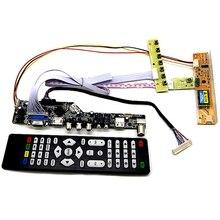 JABS Tv + Hdmi + Vga + Av + Usb + Audio Tv Lcd Treiber-platine 15,4 Zoll Lp154W01 B154Ew08 b154Ew01 Lp154Wx4 1280X800 Lcd Controller Board