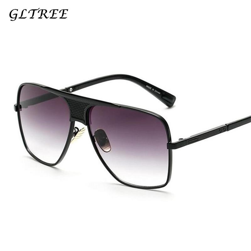 GLTREE модные брендовые дизайнерские мужские классические солнцезащитные очки ретро вождения мужские Солнцезащитные очки женские очки UV400 ...