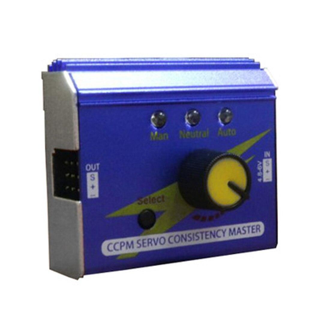 Caja de aluminio multifunción 3 canales ESC servotester Digital analógica CCPM probador de comprobación maestro