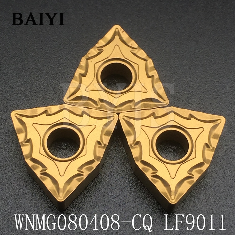 10pcs WNMG080408-CQ LF9011 WNMG080408 WNMG432 carbide inserts turning tools cutter lathe blade for Steel stainless 10pcs wnmg080408 pm 4025 forturning
